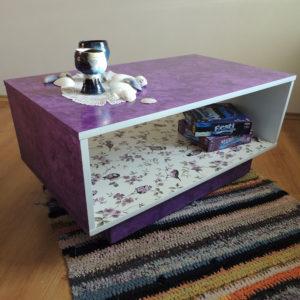 lilla laud 'Võlumets' - Atmosfäär renoveeritud mööbel