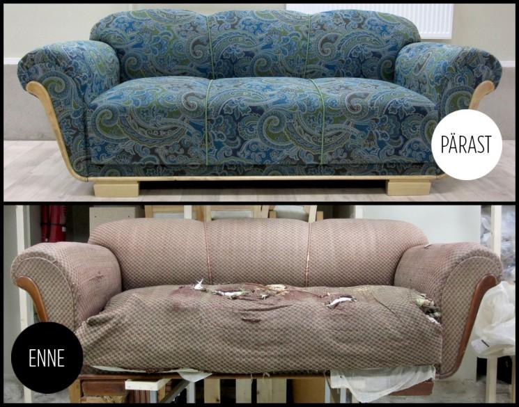 Tigudiivan - Atmosfäär - renoveeritud mööbel