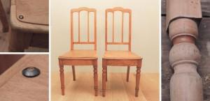 Vanad puidust toolid - Atmosfäär mööbel