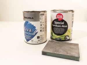 Kasutasime Vivacolori vesialuselist värvi ja Tikkurila vesialuselist lakki
