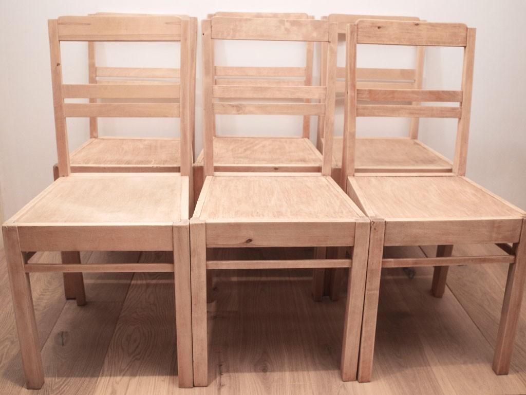 Lihvitud toolid ootavad viimistlust