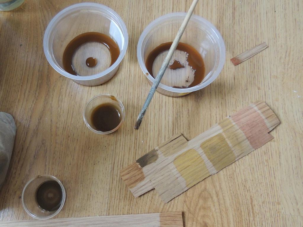 Peitside ja värvipigmentide segamine
